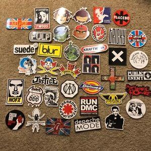 💀 Punk/rock sticker assortment